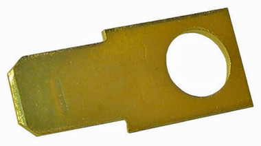 "Brass Male 1/4"" Tab with #10 Mounting Hole"