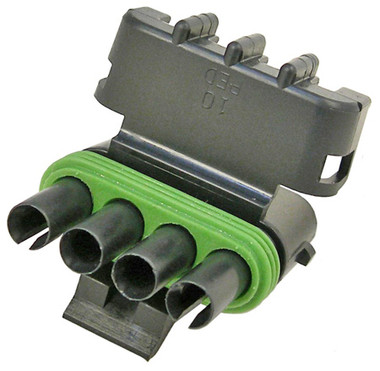 WeatherPack 4 Cavity Male Tower Connector