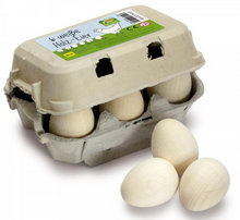 Erzi Wooden White Eggs