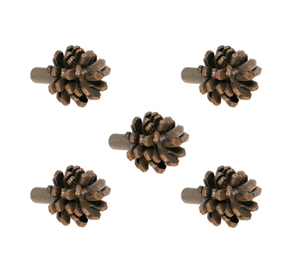 Pine Iron Drawer Knob- 5 Piece Set