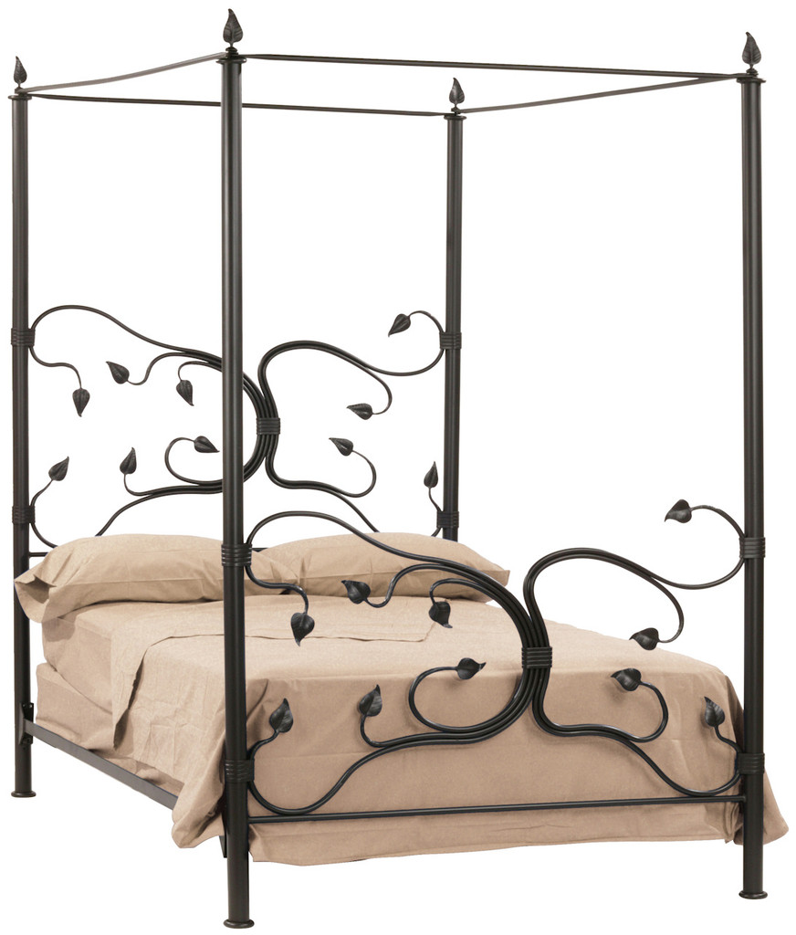 Iron Four Poster Bed eden isle hand forged iron canopy bed queen complete