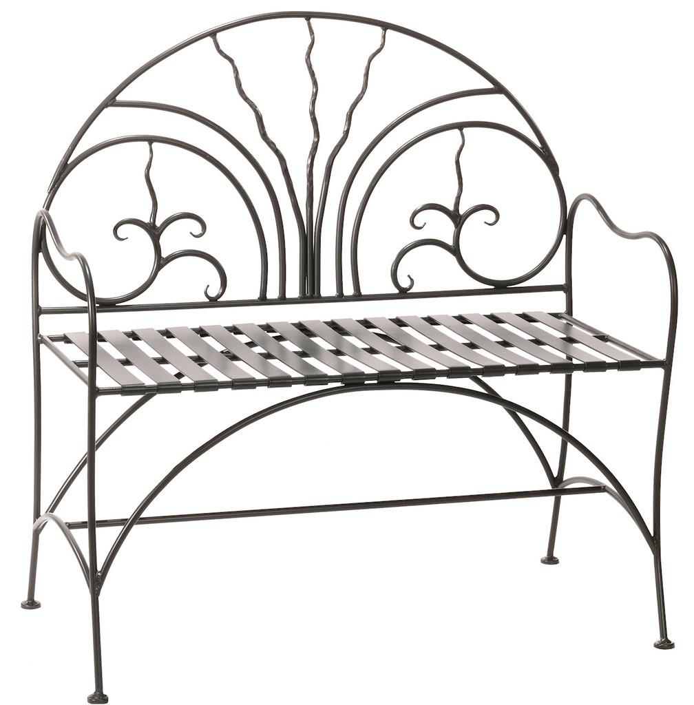 Iron Courtyard Bench 40 inch