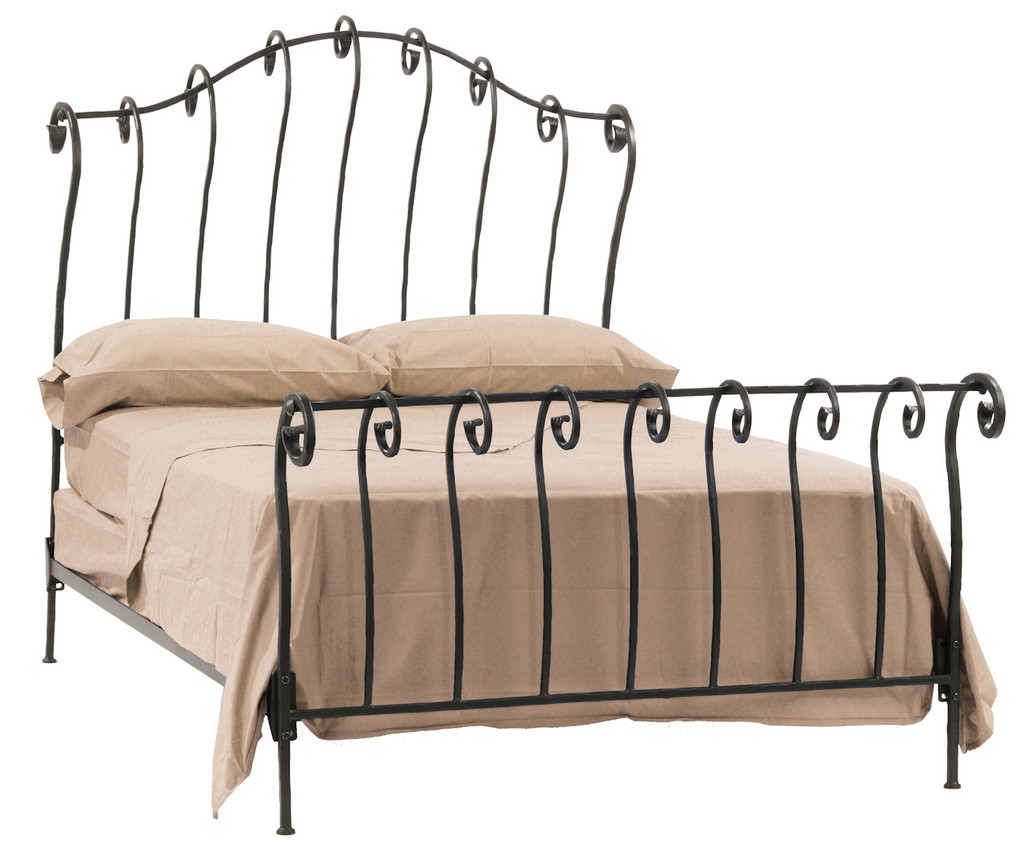 Stratford Iron Sleigh King Bed