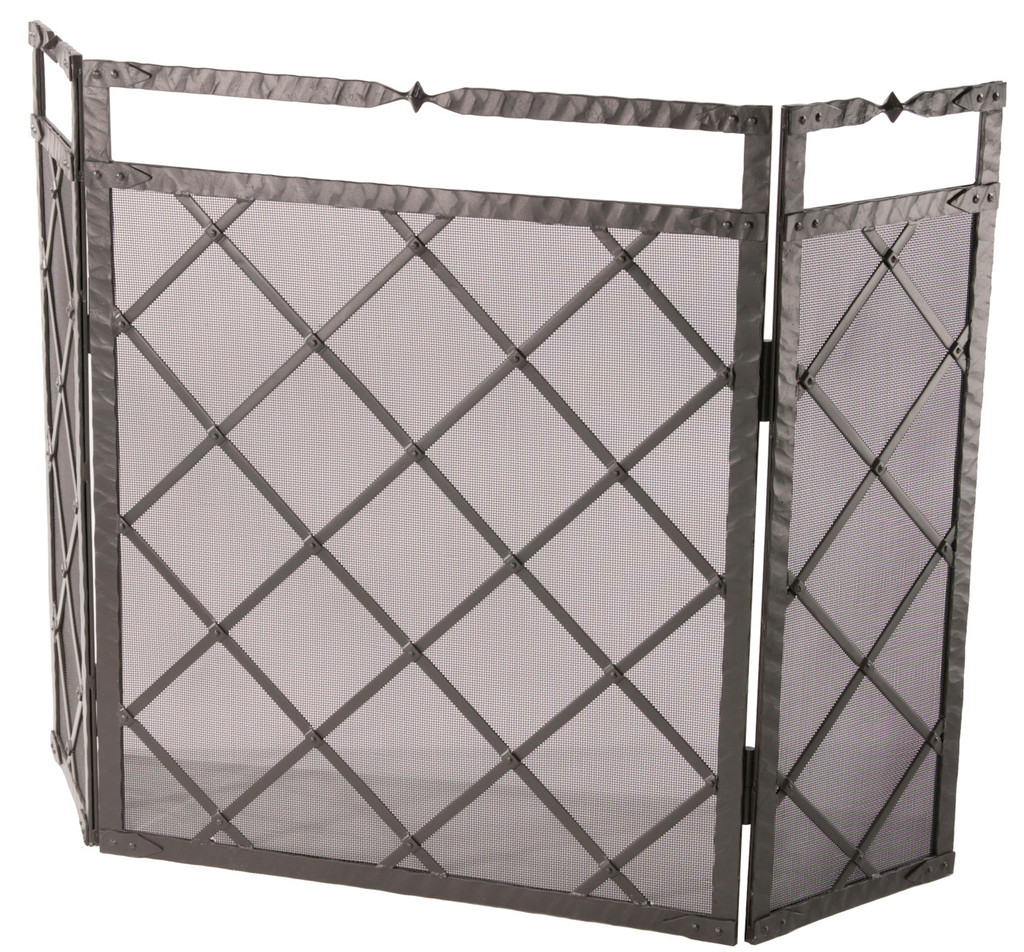 Iron Fire Screen Forest Hill Collection Triple Panel