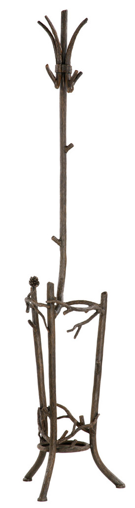 Pine Iron Coat and Umbrella Stand