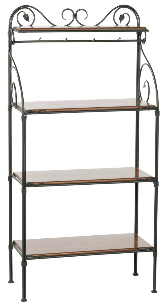 Leaf Iron Bakers Rack 4 Tier