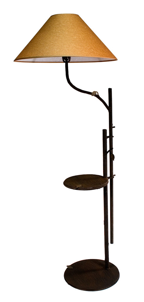 Whisper Creek Iron Swing Arm Chair Lamp