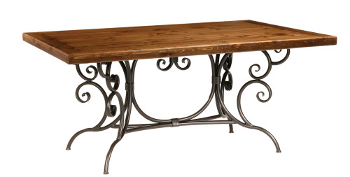 Waterbury Iron Dining Table 6 foot