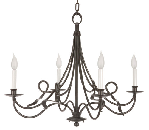 Savannah 4 Arm Iron Chandelier