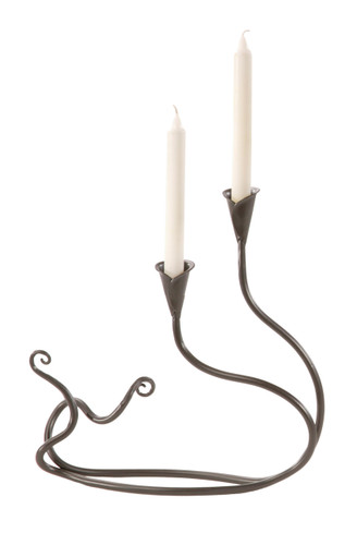 Windswept Candleholder Double