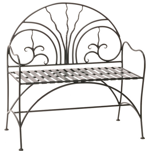 Iron Courtyard Bench 40 inch