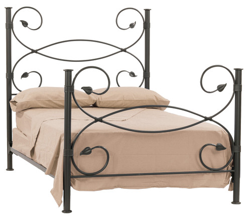 Leaf Iron Queen Bed