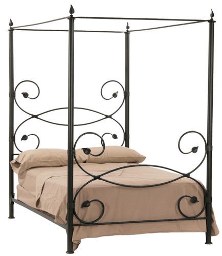 Leaf Canopy Iron Cal-King Bed