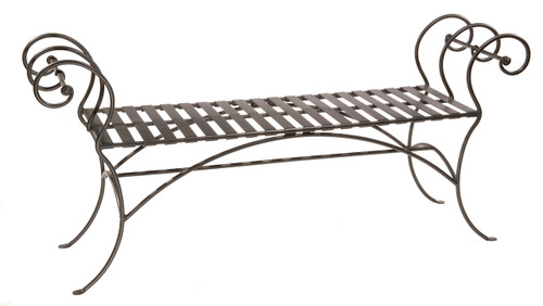 Waterbury Iron Bench (No Back) 63 inch