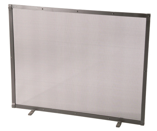 Iron Fire screen Full Faced Single Panel with Feet