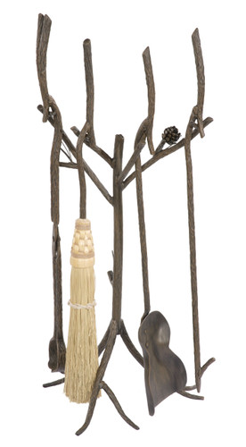 Iron Firetool Set - Pine Collection 5 Piece