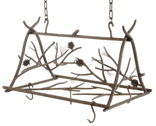 Pine Iron Triangle Pot Rack Small
