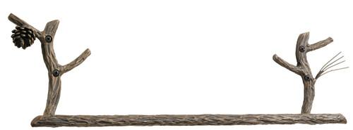 Pine Iron Towel Bar 32 inch