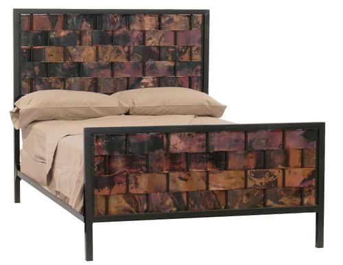 Rushton Queen Iron Bed  Copper