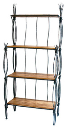 Rush Iron Bakers Rack 4 Tier