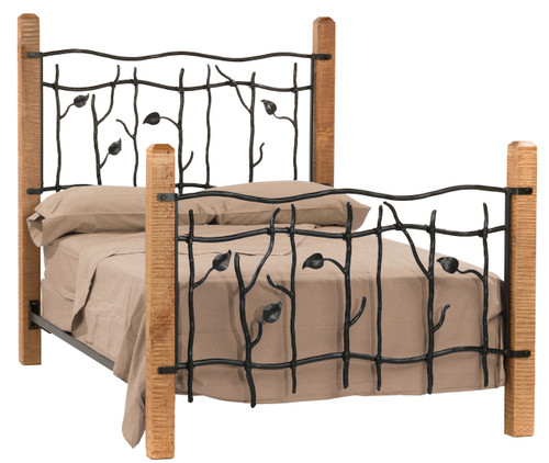 Sassafras Cal King Iron Bed