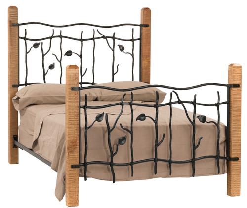 Sassafras King Iron Bed