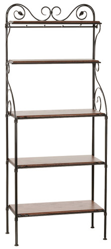 Leaf Iron Bakers Rack 5 Tier