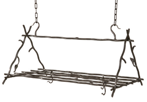 Sassafras Iron Triangle Pot Rack Complete with 6 Canterbury Hooks