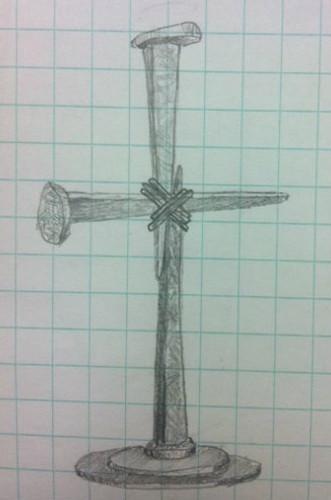 Custom Iron Nail Cross