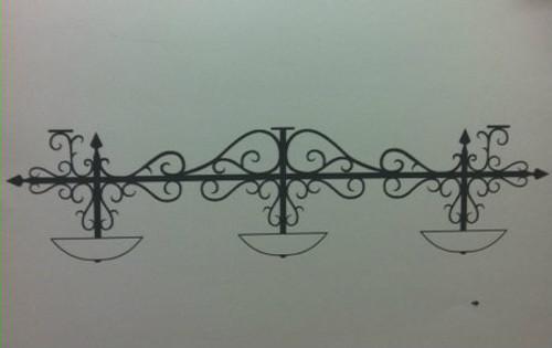 Custom Scroll Hanging Bar Lamp