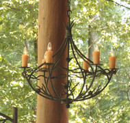 Pine Iron Chandelier 6 Arm
