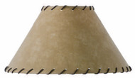 Parchment Table Lampshade with Leather Trim 18 inch