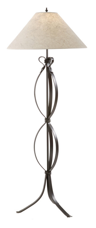 Saratoga hand forged iron floor lamp for Chevron shelf floor lamp