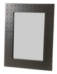 Merrimack Rivet Iron Wall Mirror
