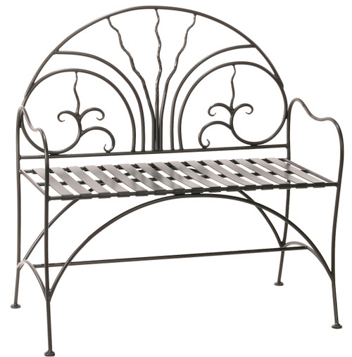 40 Inch Hand Forged Iron Courtyard Bench