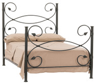 Leaf Iron Cal-King Bed