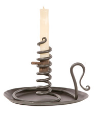Courting Iron Candle Holder (with drip pan)