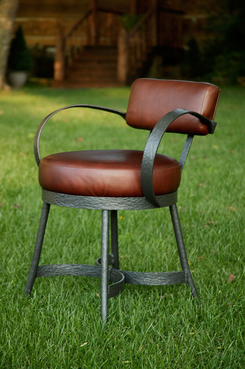Cedarvale hand forged iron arm chair