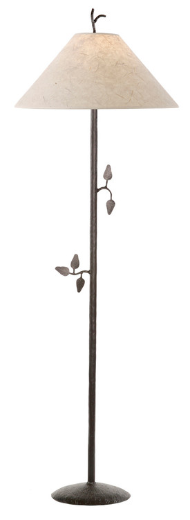 Leaff hand forged iron floor lamp for Chevron shelf floor lamp