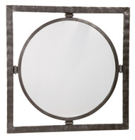 Forest Hill Iron Round Wall Mirror