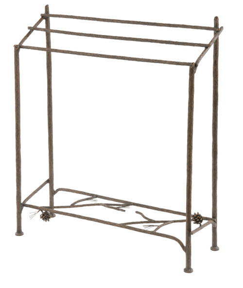 Pine Hand Forged Iron Blanket Or Towel Stand