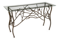 Pine Iron Console Table
