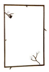 Pine Iron Wall Mirror