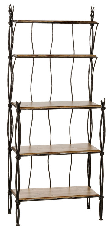 Rush Hand Forged Iron Bakers Rack 5 Tier