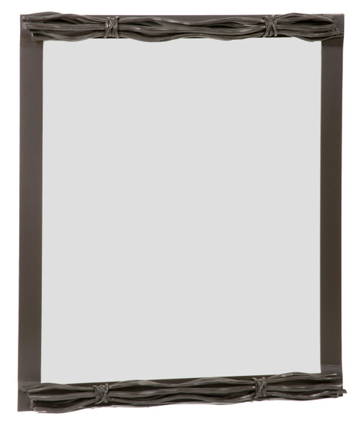 Rush Hand Forged Iron Wall Mirror Small