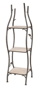 Iron Standing Shelf Sassafras Narrow