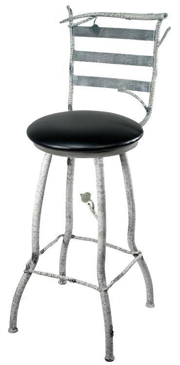 whisper creek hand forged iron bar stool 25 inch