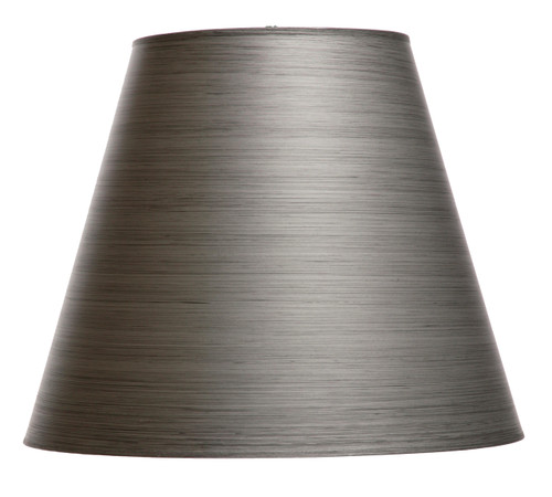 Pewter hand forged iron floor lamp shade 18 inch for Chevron shelf floor lamp