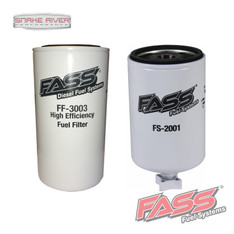 FS-2001/FF-3003 - FASS FUEL SYSTEM BLUE & RED TITANUM SERIES REPLACEMENT FUEL FILTER & WATER SEPARATOR