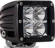 RIGID INDUSTRIES D-SERIES DUALLY HYBRID 10 DEGREE SPOT WHITE LED LIGHT SINGLE - 20121